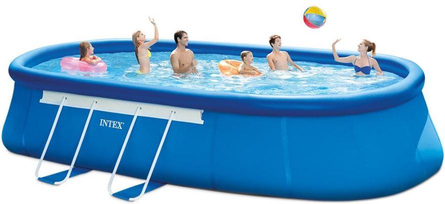 intex oval frame pool set best above ground pool guide. Black Bedroom Furniture Sets. Home Design Ideas
