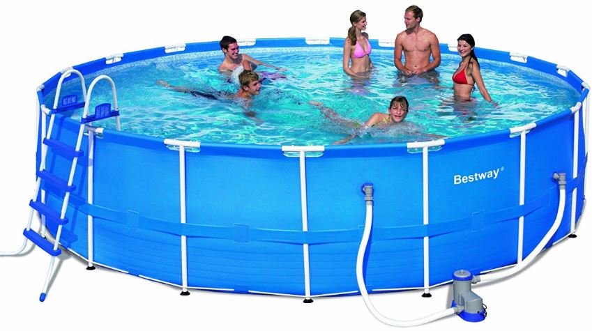 Bestway steel pro frame pool best above ground pool guide - Bestway steel frame swimming pool ...